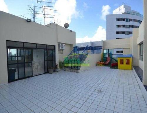 apartamento com 3 dormitórios à venda, 86 m² por r$ 385.000,00 - rosarinho - recife/pe - ap3216