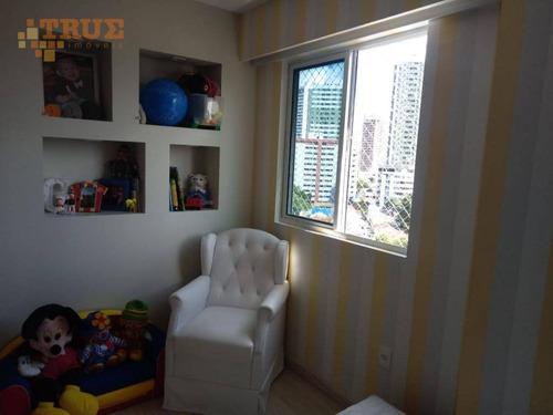 apartamento com 3 dormitórios à venda, 87 m² por r$ 650.000,00 - torre - recife/pe - ap3323