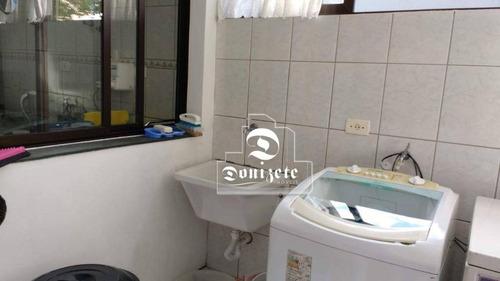 apartamento com 3 dormitórios à venda, 88 m² por r$ 390.000 - vila pires - santo andré/sp - ap3992