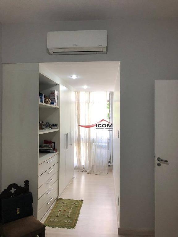 apartamento com 3 dormitórios à venda, 88 m² por r$ 950.000,00 - humaitá - rio de janeiro/rj - ap4138