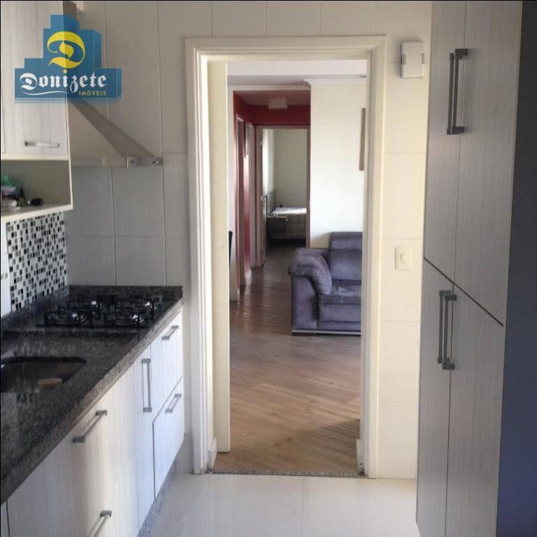 apartamento com 3 dormitórios à venda, 89 m² por r$ 645.000,00 - jardim - santo andré/sp - ap9824