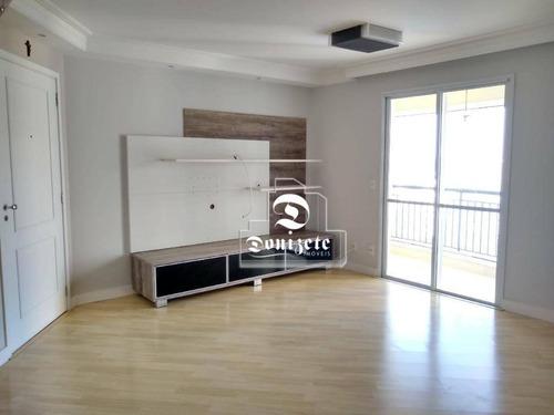 apartamento com 3 dormitórios à venda, 89 m² por r$ 650.000,00 - jardim - santo andré/sp - ap4808