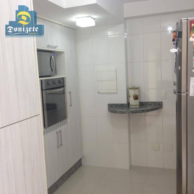 apartamento com 3 dormitórios à venda, 89 m² por r$ 655.000,00 - jardim - santo andré/sp - ap9824