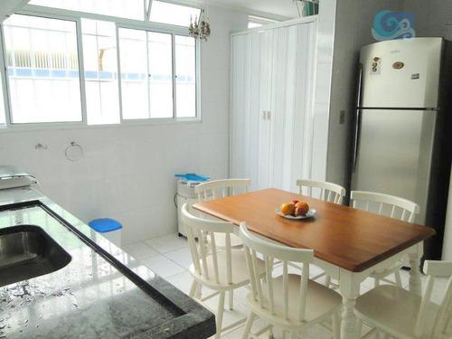 apartamento com 3 dormitórios à venda, 90 m² por r$ 260.000 - praia da enseada - guarujá/sp - ap4218