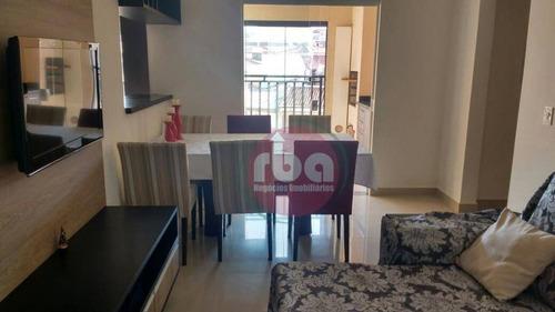 apartamento com 3 dormitórios à venda, 90 m² por r$ 380.000 - vila santana - sorocaba/sp - ap0702