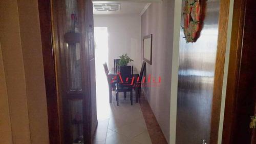 apartamento com 3 dormitórios à venda, 90 m² por r$ 425.000 - centro - santo andré/sp - ap1775