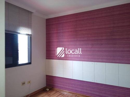 apartamento com 3 dormitórios à venda, 90 m² por r$ 450.000 - redentora - são josé do rio preto/sp - ap1756