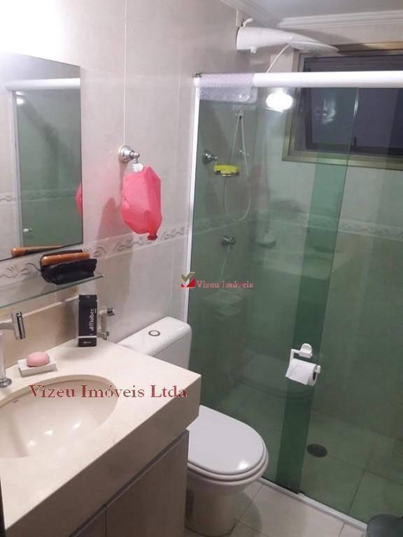 apartamento com 3 dormitórios à venda, 90 m² por r$ 490.000,00 - chácara agrindus - taboão da serra/sp - ap0251