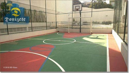 apartamento com 3 dormitórios à venda, 90 m² por r$ 500.000 - campestre - santo andré/sp - ap5736