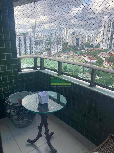 apartamento com 3 dormitórios à venda, 90 m² por r$ 600.000,00 - torre - recife/pe - ap3208