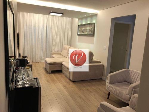 apartamento com 3 dormitórios à venda, 91 m² por r$ 650.000 - santa maria - são caetano do sul/sp - ap8911