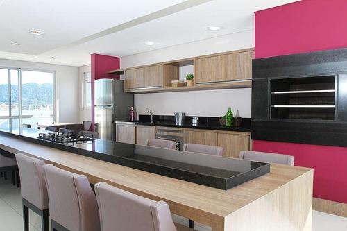apartamento com 3 dormitórios à venda, 92 m² por r$ 360.000 - pagani - palhoça/sc - ap5768
