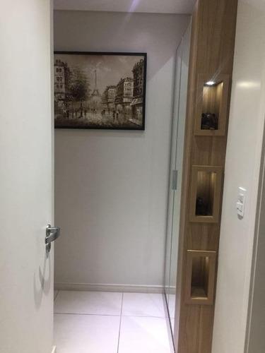 apartamento com 3 dormitórios à venda, 92 m² por r$ 450.000 - pagani - palhoça/sc - ap5604