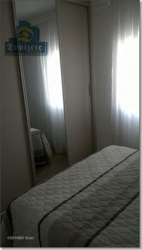apartamento com 3 dormitórios à venda, 93 m² por r$ 600.000 - campestre - santo andré/sp - ap2019