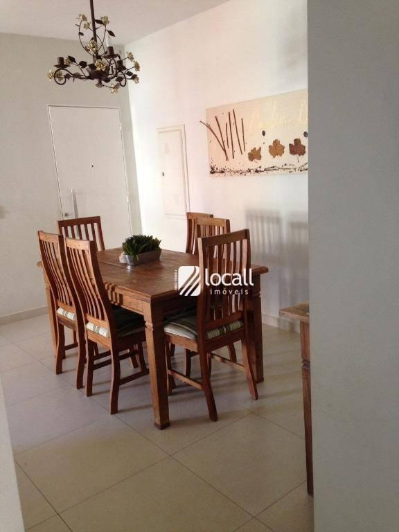 apartamento com 3 dormitórios à venda, 95 m² por r$ 340.000 - cidade nova - são josé do rio preto/sp - ap1815