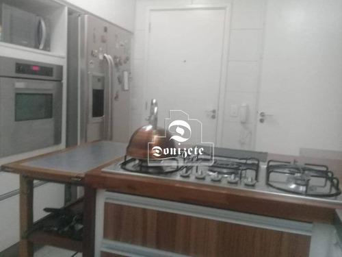 apartamento com 3 dormitórios à venda, 97 m² por r$ 750.000 - centro - santo andré/sp - ap10608