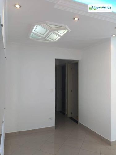 apartamento com 3 dormitórios à venda no condomínio piazza della fontana, 64 m² por r$ 320.000 - gopoúva - guarulhos/sp - ap0102
