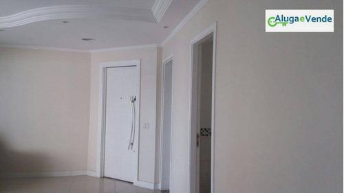 apartamento com 3 dormitórios à venda no condomínio supera guarulhos, 128 m² por r$ 750.000 - vila augusta - guarulhos/sp - ap0059