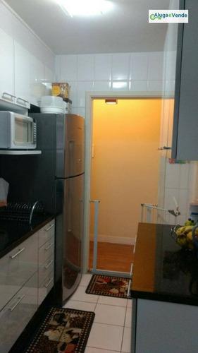 apartamento com 3 dormitórios à venda no condomínio suprema guarulhos, 75 m² por r$ 425.000 - vila augusta - guarulhos/sp - ap0009