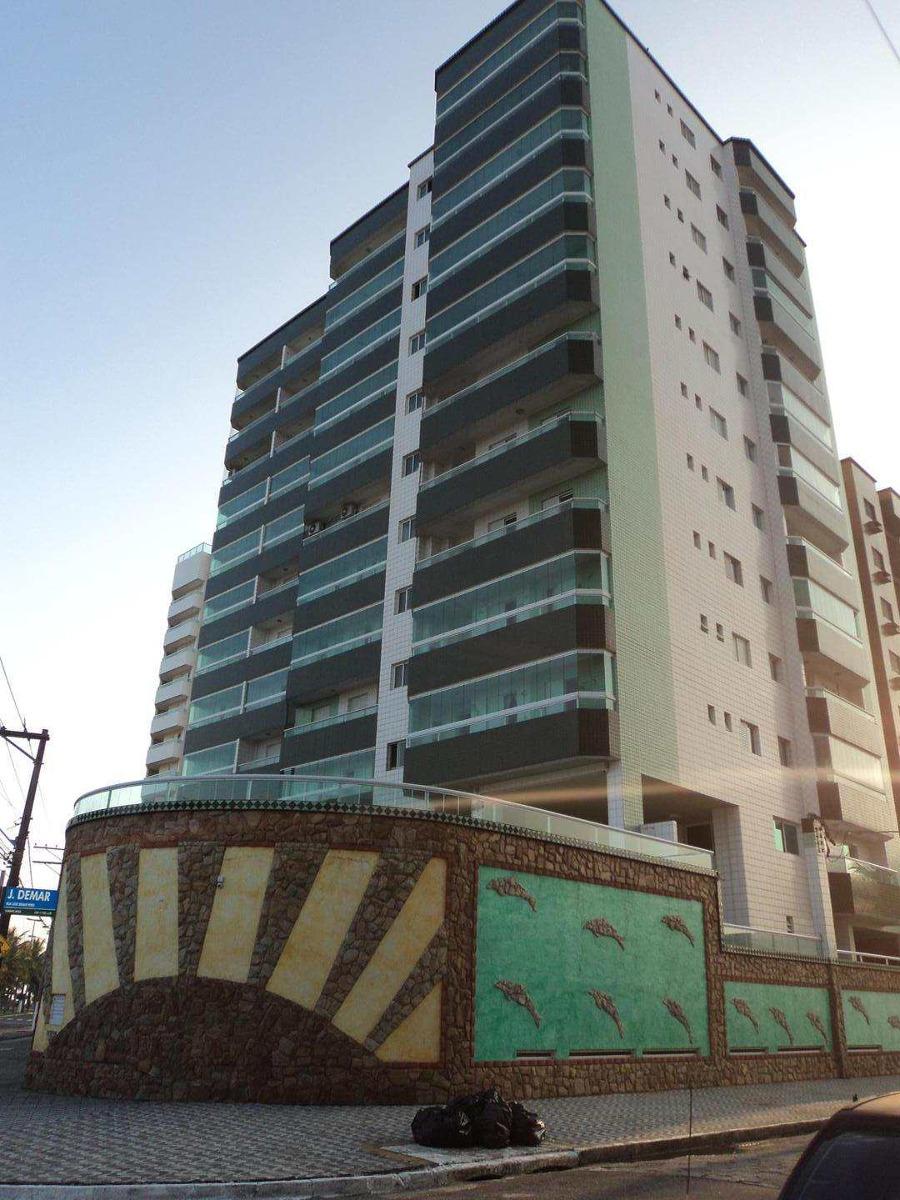 apartamento com 3 dorms, caiçara, praia grande - r$ 580.000,00, 90m² - codigo: 412375 - v412375