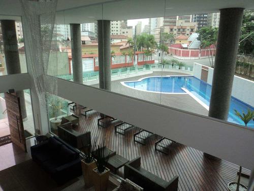 apartamento com 3 dorms, caiçara, praia grande - r$ 820.000,00, 157,52m² - codigo: 412458 - v412458