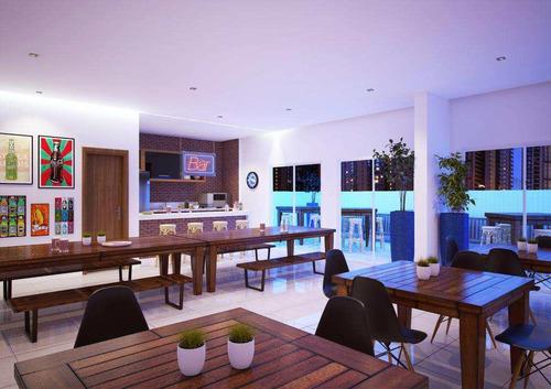 apartamento com 3 dorms, canto do forte, praia grande - r$ 645.000,00, 125,66m² - codigo: 412833 - v412833