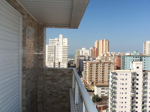 apartamento com 3 dorms, guilhermina, praia grande - r$ 460.000,00, 110m² - codigo: 412421 - v412421