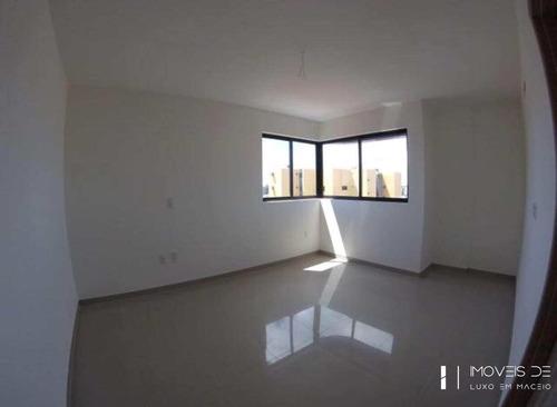 apartamento com 3 dorms, jatiúca, maceió, cod: 70 - v70