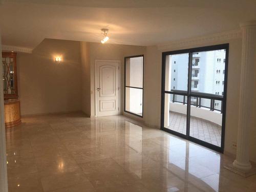 apartamento com 3 dorms, moema, são paulo - r$ 2.100.000,00, 198m² - codigo: 833 - v833