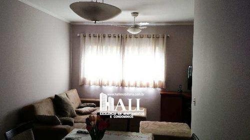 apartamento com 3 dorms, parque residencial comendador mançor daud, são josé do rio preto - r$ 238.000,00, 80m² - codigo: 3315 - v3315
