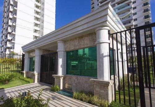apartamento com 3 quartos em ponta negra - terramaris club condominium - ap0062