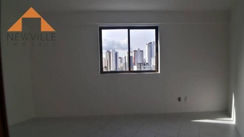 apartamento com 3 quartos para alugar, 95 m² por r$ 1.800/mês - madalena - recife/pe - ap0078
