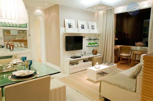 apartamento com 3 quartos, semi mobiliado, em nova parnamirim - novo sttilo - ap0136