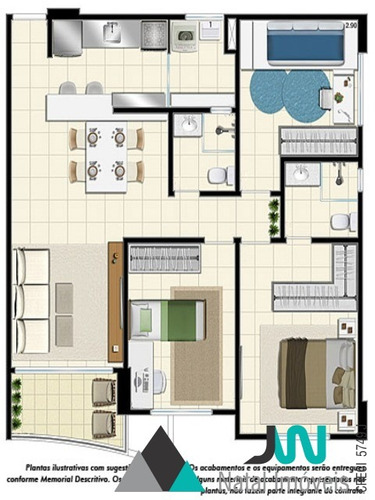 apartamento com 3 quartos, sendo um suíte, em ótimo local do candelária - ap00105 - 31912974
