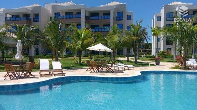 apartamento com 3 quartos à venda, 115 m², 2 vagas, beira mar, área de lazer - cumbuco - caucaia/ce - ap0718