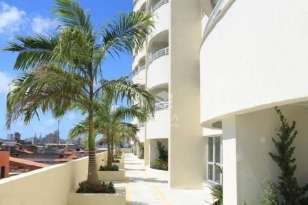 apartamento com 3 quartos à venda, 64 m², 2 vagas, vista mar, área de lazer - centro - fortaleza/ce - ap0704