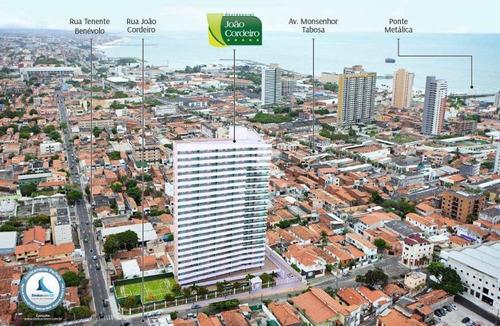 apartamento com 3 quartos à venda, 80 m², área de lazer,2 vagas, financia  praia de iracema - fortaleza/ce - ap1000