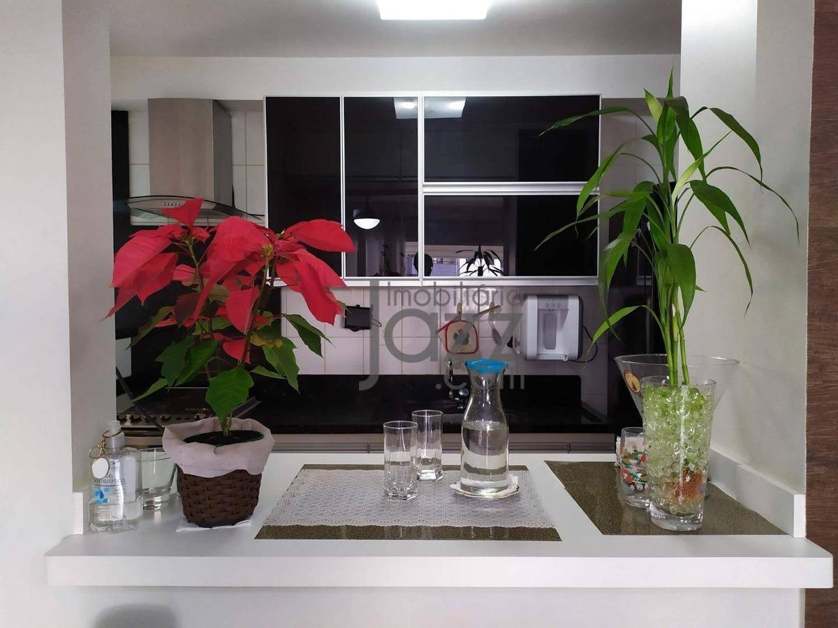 apartamento com 3 quartos à venda, 92 m² por r$ 750.000 - vila brandina - campinas/sp - ap2444
