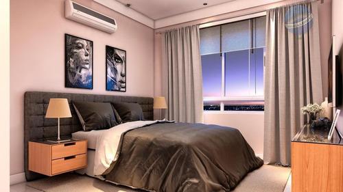 apartamento com 3 quartos, vista para o mar, na rota do sol, pium - ap0089