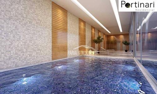 apartamento com 3 suítes a venda, 142 m² edifício residencial portinari, por r$ 950.000 - cidade jardim - rio claro/sp - ap0266