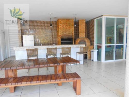 apartamento com 3 suítes e lazer completo no ed. vintage aldeota. - ap0590