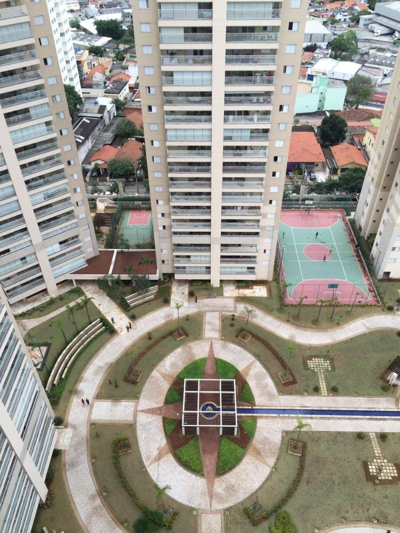 apartamento com 3 suítes lazer completo e 2 vagas de garagem à venda no condomínio parque clube, 134 m² por r$ 850.000 - vila augusta - guarulhos/sp - ap0203