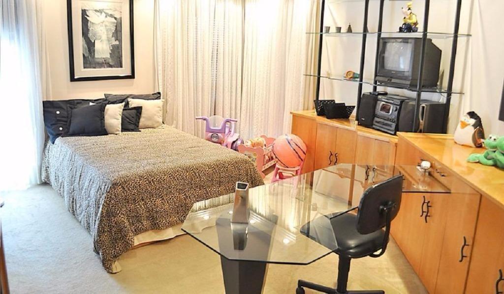apartamento com 320 m² de área útil, 4 dormitórios (3 suítes), 4 vagas no edifício octógono no bairro jardim em santo andré. - ap1153