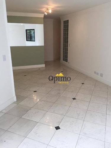 apartamento com 4 dormitórios para alugar, 110 m² por r$ 3.000/mês - jardim marajoara - são paulo/sp - ap1916