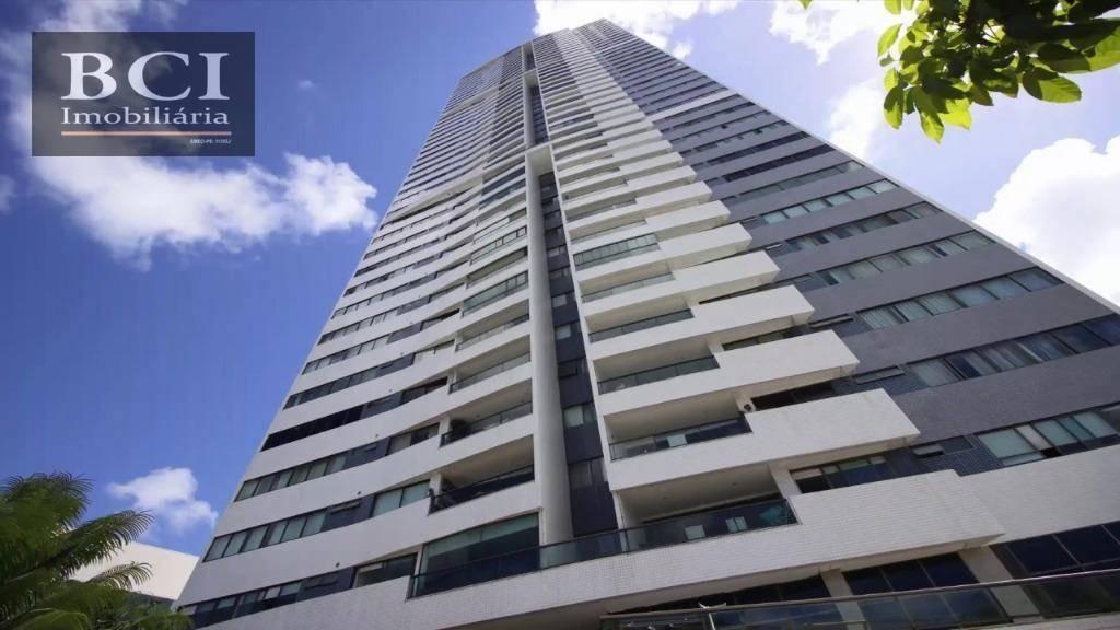 apartamento com 4 dormitórios para alugar, 206 m² por r$ 5.200/mês - casa forte - recife/pe - ap0520
