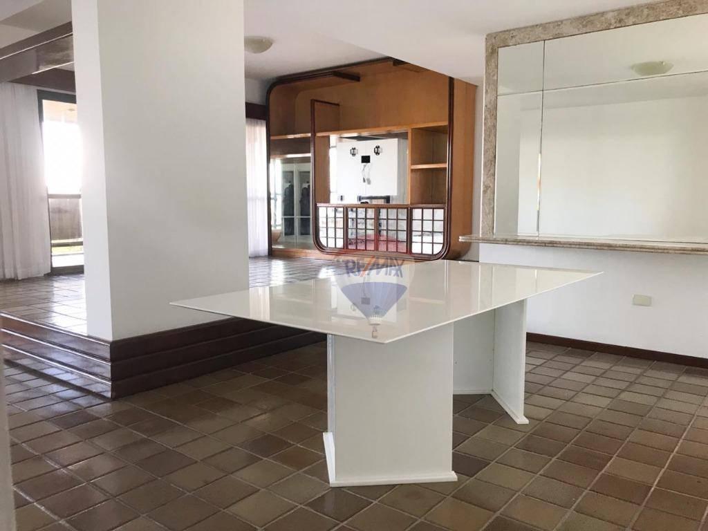 apartamento com 4 dormitórios para alugar, 251 m² por r$ 4.500,00/mês - casa forte - recife/pe - ap1122