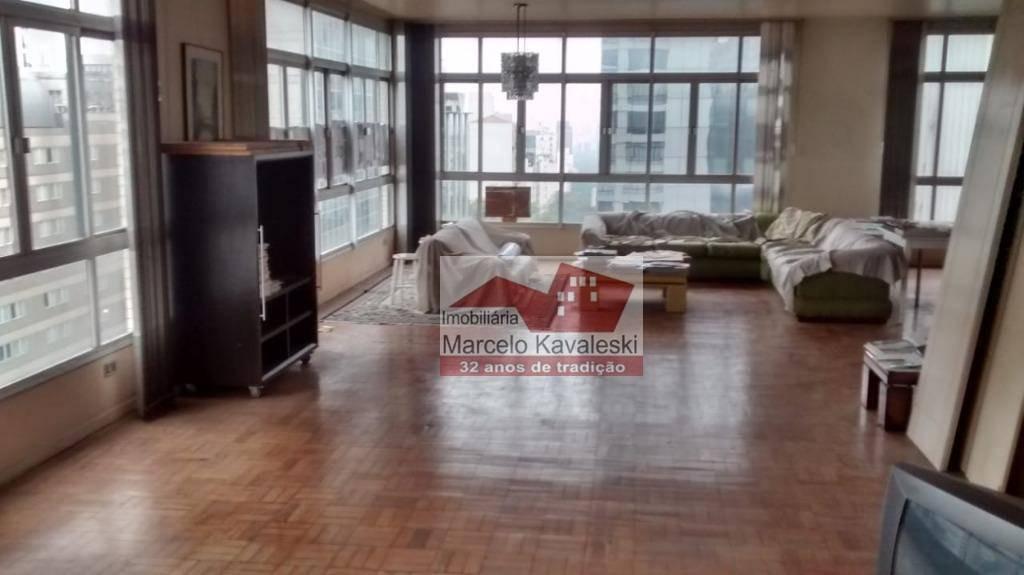 apartamento com 4 dormitórios para alugar, 420 m² por r$ 6.000/mês - ap7598
