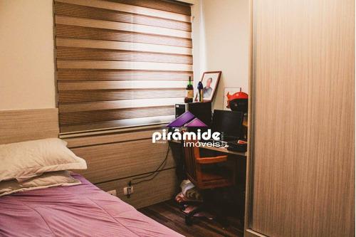 apartamento com 4 dormitórios à venda, 122 m² por r$ 668.000,00 - jardim das indústrias - são josé dos campos/sp - ap10749