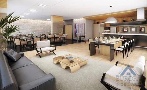 apartamento com 4 dormitórios à venda, 122 m² por r$ 860.000 - gleba fazenda palhano - londrina/pr - ap0113