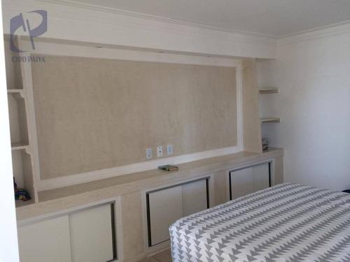 apartamento com 4 dormitórios à venda, 126 m² por r$ 380.000,00 - cambeba - fortaleza/ce - ap1465